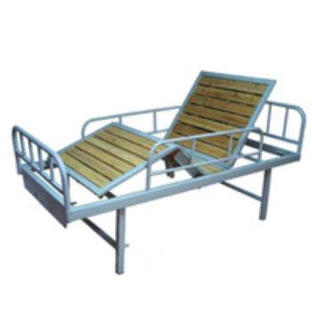 长江三折病床CJH-3 (喷塑床头.床框护栏木)