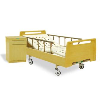 山東育達豪華木床頭床框雙搖床A6型