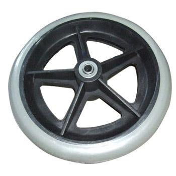 鱼跃轮椅车配件:前轮6-8寸