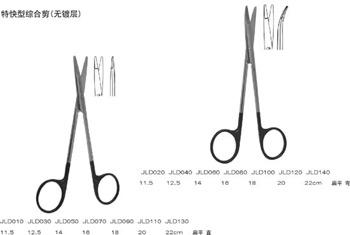 上海金鐘綜合組織剪16cm