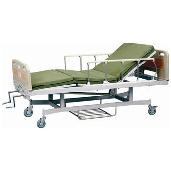 華瑞ABS床頭噴塑雙搖病床D151