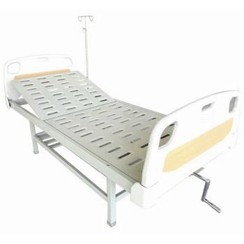 华瑞PE床头喷塑单摇病床D081