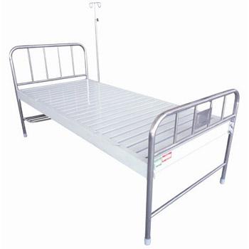 华瑞不锈钢、喷塑混合型平板病床D021