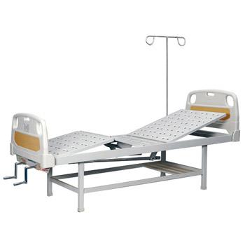 华瑞PE床头喷塑双摇病床D141