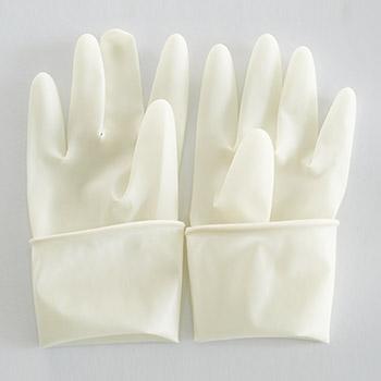 华扬一次性使用灭菌橡胶外科手套麻面弯指
