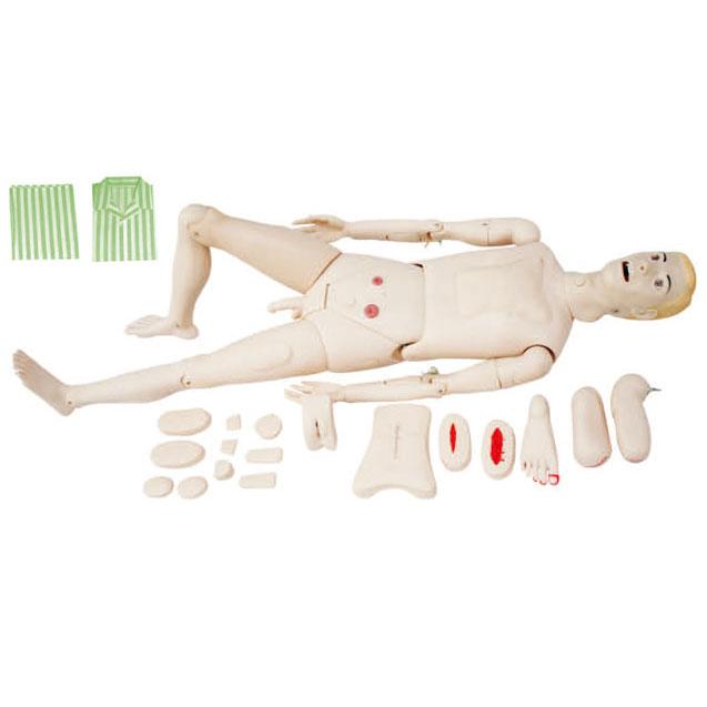 高级全功能护理训练模拟人(男性)KAS-122A