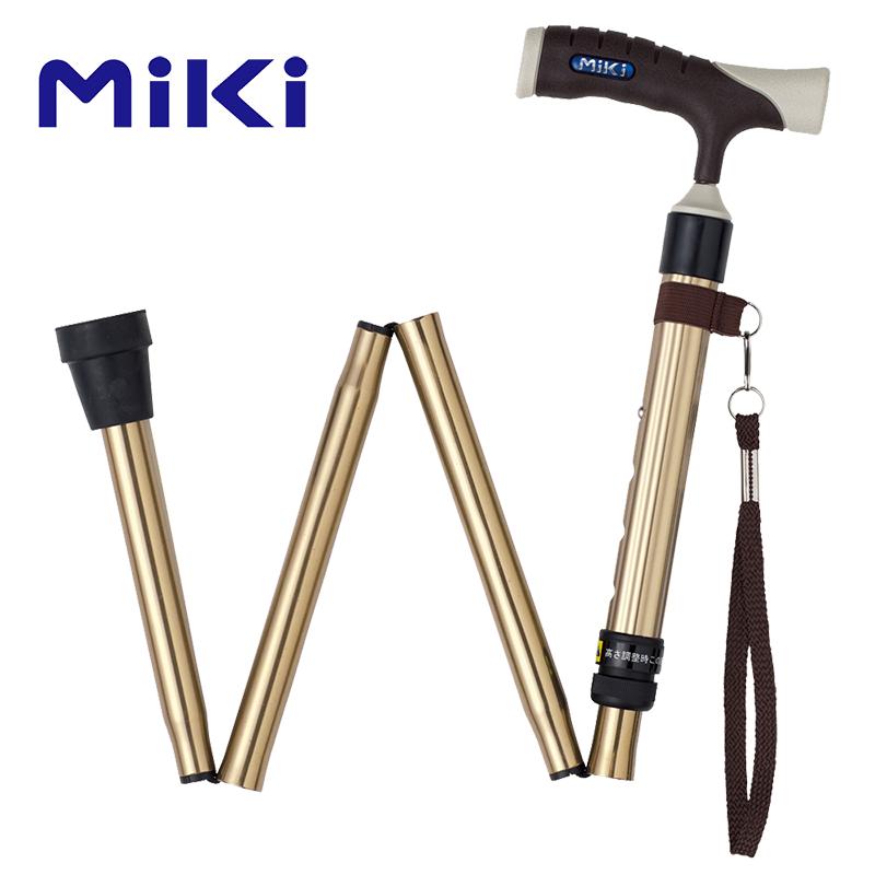 Miki 三貴折疊拐鈦色