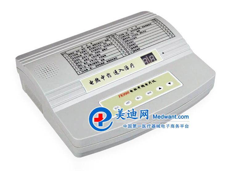 祥云佳友 电脑中频电疗仪 FK998型 祥云佳友电脑中频电疗仪FK998型 产品简介 FK998 电脑中频电疗仪是一种家用型电脑中频电疗仪,采用微电脑控制,操作简单、使用方便。采用理疗专家编制的16种治疗处方,用户可 根据病情选择相应的处方,按一下治疗键后,仪器自动按程序输出有特定治疗作用的系列中频电流。有揉、敲、搓、振、颤等感受,能改善 血液循环和促进神经功能的恢复,具有消炎、镇痛的作用。适用于家庭治疗和保健。 本机还具有中药透入功能,当将浸有中药药液的布垫垫在电极与皮肤之间,或将中药药液涂于电极表